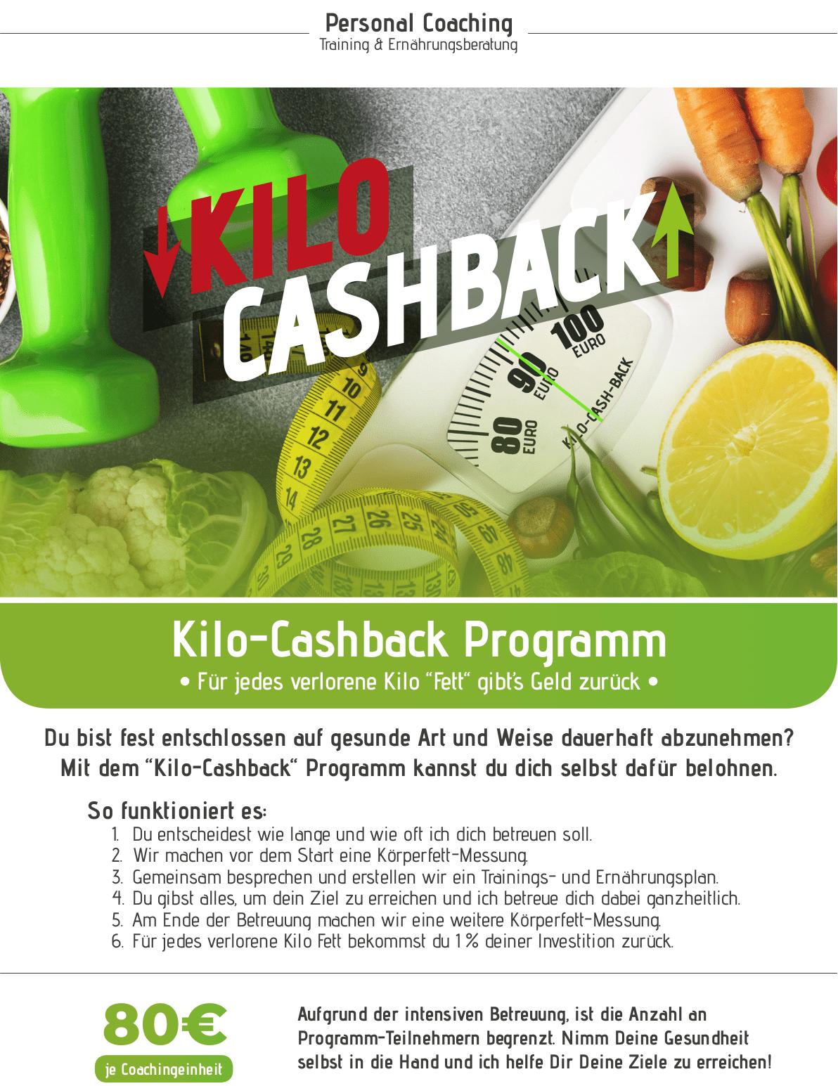 Kilo-Cashback-Programm